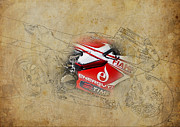 Transport Mixed Media - Ducati 1199 Panigale R WSBK 2013 by Pablo Franchi