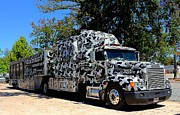 Duck Dynasty Framed Prints - Duck Dynasty-Duck Commander Camouflage Eighteen Wheeler Framed Print by Ester  Rogers
