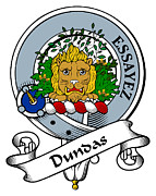 Genealogy Prints - Dundas Clan Badge Print by Heraldry