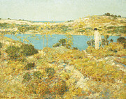 Nude Woman Water Posters - Dune Pool Poster by Childe Hassam
