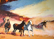 Horse Art Prints - Dust in the Wind Print by Judy Kay