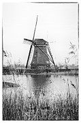Old Mills Posters - Dutch Windmill Poster by Hans Engbers