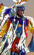 Powwow Posters - Eagle Wings Poster by Linda  Parker