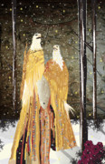 Tree In Golden Light Art - Eagle Winter Dress 1 by Kim Prowse