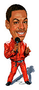 Standup Comedy Framed Prints - Eddie Murphy Framed Print by Art