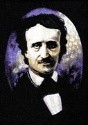 Edgar Allan Poe Paintings - Edgar Allan Poe by Rouble Rust