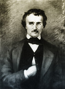 Edgar Allen Poe Metal Prints - Edgar Allen Poe  Metal Print by Digital Reproductions