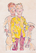 Schiele Originals - Egons three boys by Adrienne Dreed