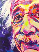 Famous Faces Painting Originals - Einstein by Miss Anna Hall
