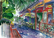 Watercolor Society Prints - El Meson de Pepe Print by Brenda Dolhanczyk
