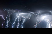 Lightning  Photographer Metal Prints - Electric Skies Metal Print by Ryan Smith