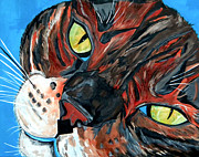 Bengal Painting Framed Prints - Eli Jackson my Bengal Boy Framed Print by Patti Schermerhorn