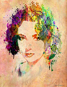 Lips Art - Elizabeth Taylor by Mark Ashkenazi