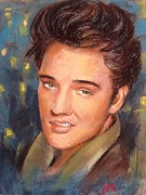 Elvis Pastels Framed Prints - Elvis Framed Print by Jieming Wang