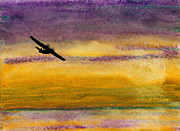Aviator Painting Posters - Empty Ocean Ahead - PBY Catalina flying boat from WWII Poster by R Kyllo
