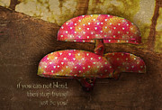 Fungi Digital Art - Enchanted Mushrooms by Yvon -aka- Yanieck  Mariani