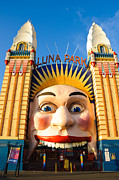Amusements Prints - Entrance to Luna Park - Sydney - Australia Print by David Hill
