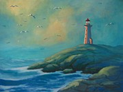 John Malone - Envisioning Peggys Cove Lighthouse