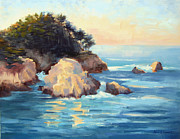 Bixby Bridge Originals - Evening Light Point Lobos by Karin  Leonard