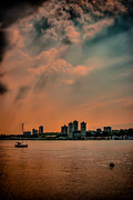George Washington Framed Prints - Evening Strom on the Hudson Framed Print by David Hahn