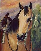 Expensive Painting Framed Prints - Expensive Hobby Horse Portrait Painting Framed Print by Kim Corpany
