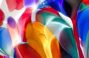 Handblown Glass Prints - Explosion of Color Print by Omaste Witkowski