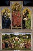 Agnus Framed Prints - Eyck, Jan Van 1390-1441 Eyck, Hubert Framed Print by Everett