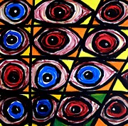 Moma Painting Originals - Eyes by Georges AH PIERRU II