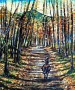 Braid Paintings - Fall Ride by Shana Rowe