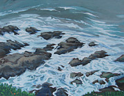 Scenic Drive Paintings - Falling Tide by Vanessa Hadady BFA MA