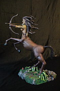 Sculpey Sculptures - Female Centaur by Mark Harris