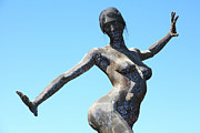Yerba Buena Island Posters - Female Sculpture On San Francisco Treasure Island 5D25349 Poster by Wingsdomain Art and Photography