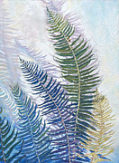 Birdseye Painting Posters - Ferns Poster by Nick Payne