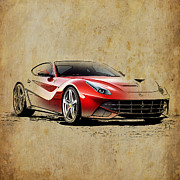Sports Art Mixed Media - Ferrari F12 by Pablo Franchi