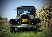 Ford Tudor Framed Prints - Field of Dreams Vintage Ford Model A Tudor  Framed Print by Inspired Nature Photography By Shelley Myke