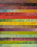 Layered Prints - Fifteen Stripes No. 3 Print by Michelle Calkins