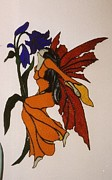Fantasy Glass Art Metal Prints - Firefly Metal Print by Nora Solomon