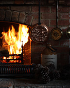 Grate Posters - Fireplace Poster by Terri  Waters