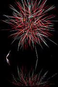 Red Fireworks Framed Prints - Fireworks Rockets Red Glare Framed Print by Christina Rollo