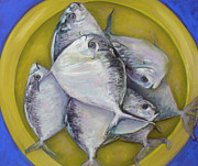 Fresh Pastels - Fish Dinner by Cy Borbone