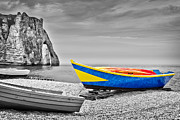 Delphimages Photo Creations - Fishing boat at Etretat