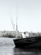 Impressionism Acrylic Prints Photos - Fishing  by France Laliberte