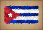 Waving Flag Digital Art - Flag of Cuba painted with watercolors by Baranov Viacheslav