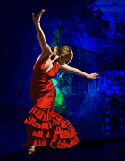 Vinyl Paintings - Flamenco Dancer 014 by Catf