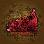 Flamenco Print by Graphicsite Luzern