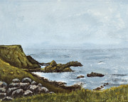 Posters On Paintings - Foggy coast of Ireland by Susan Culver