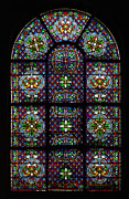Pres Photos - Foliated Glass St Germain Des Pres Paris by Arnold Richardson