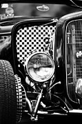 Monochrome Hot Rod Posters - Ford Dragster Monochrome Poster by Tim Gainey