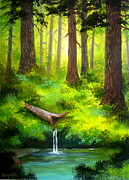 Serenity Scenes Landscapes Paintings - Forest  Fantasy by Shasta Eone