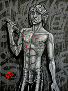 Blood Painting Originals - Forgotten Boy by Lance Vaughn